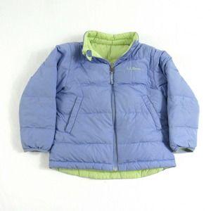 LL Bean Reversible Kids Down Jacket L 6X-7